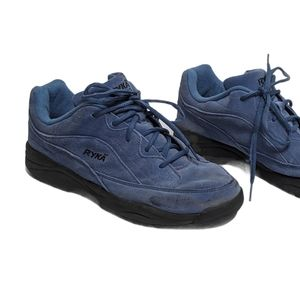 Ryka Hiking Shoes Size 9 Blue Suede